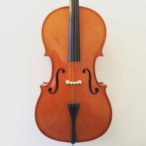 1/4 - 4/4 Romanian student cello outfit labelled Andreas Zeller