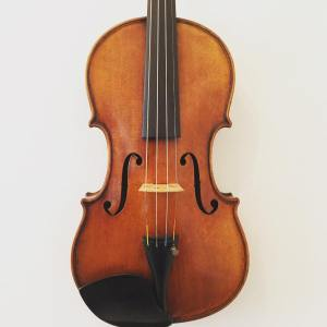 English violin by Alexander Hume dated 1919