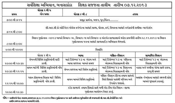 SSA Shikshak Sajjata Talim 07-12-2013 Aayojan