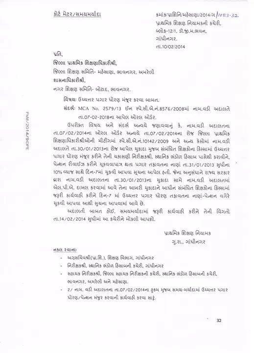 Uchchtar Pagar Dhoran Manjur Karva Babat Court Order