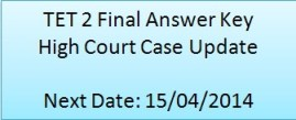 TET 2 Final Answer Key High Court Case Update