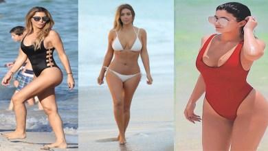 Photo of Kim Kardashian on The Instagram, The Share Bikini Bold Picture