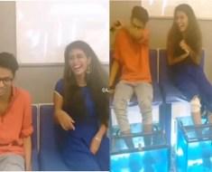 Priya Prakash Varrier: When The Fish Spa It, then laughing, Video Viral