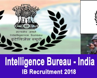 IB Recruitment 2018