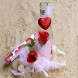 message bouteille cadeau saint valentin