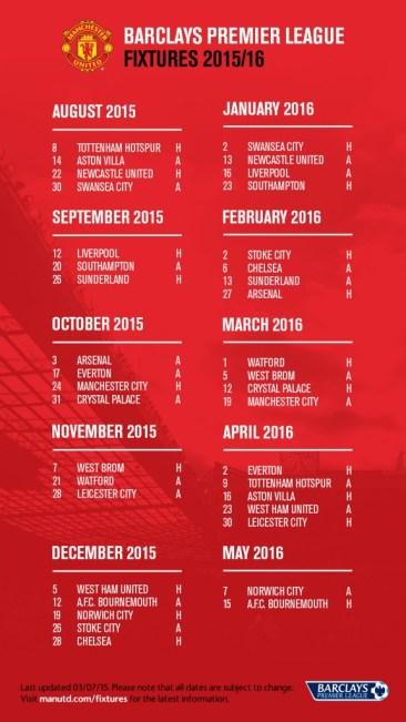 Jadwal Pertandingan Manchester United