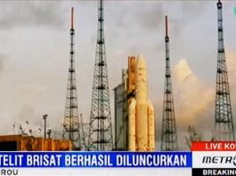 Gambar Peluncuran Satelit BRIsat