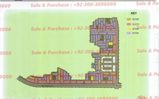 Gulberg Residencia Block AA-2 MAp