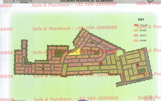 Gulberg Residencia Block B  Map
