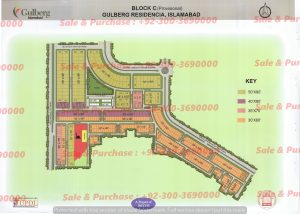 Gulberg Residencia Block C Map