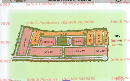 Gulberg Residencia Block G Map