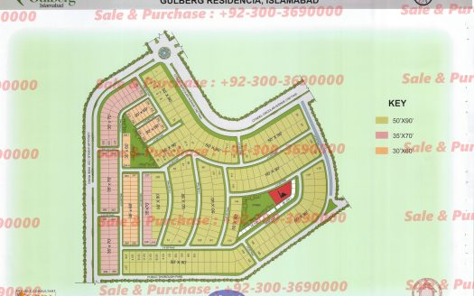 Gulberg Residencia Block J Map