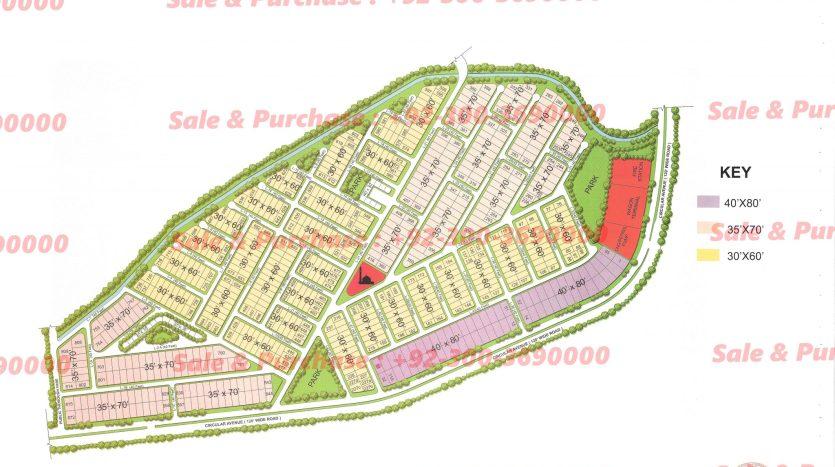 Gulberg Residencia Block L Map