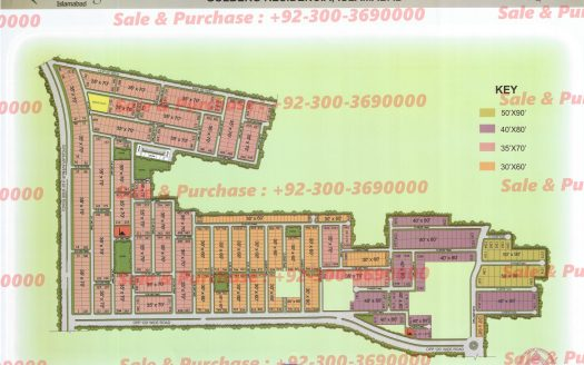 Gulberg Residencia Block O Map