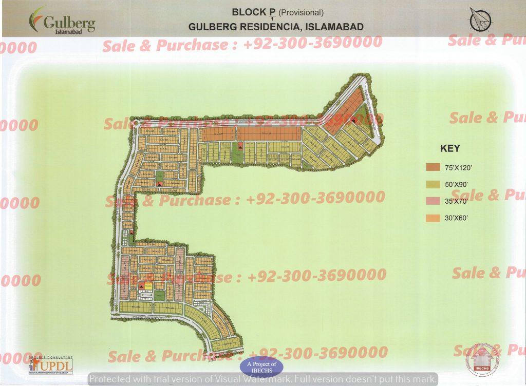 Gulberg Residencia Block P-1 Map