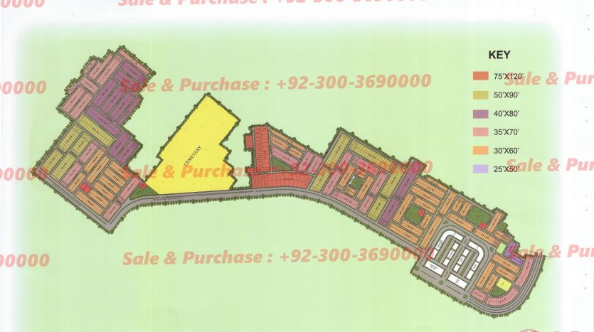 Gulberg Residencia Block P-3 Map