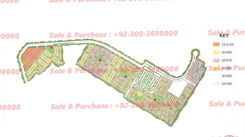 Gulberg Residencia Block P-4 Map