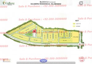 Gulberg Residencia Block S Map