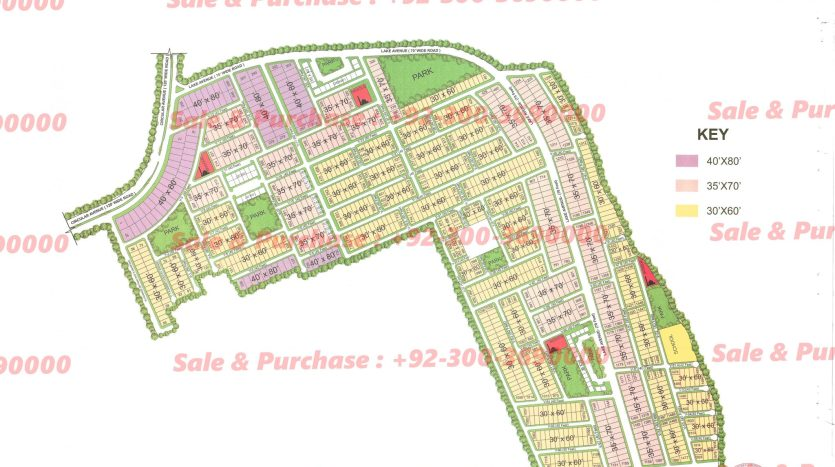 Gulberg Residencia Block V Map