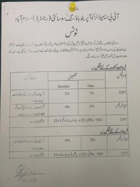 gulberg Islamabad Transfer