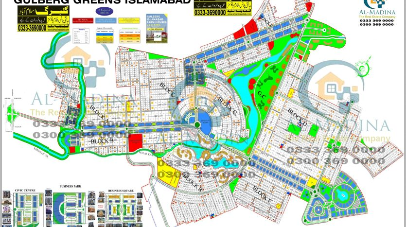 Gulberg Greens Islamabad Map