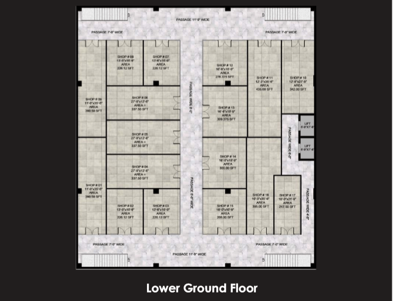 Gulberg Oasis Lower Ground Floor Plan