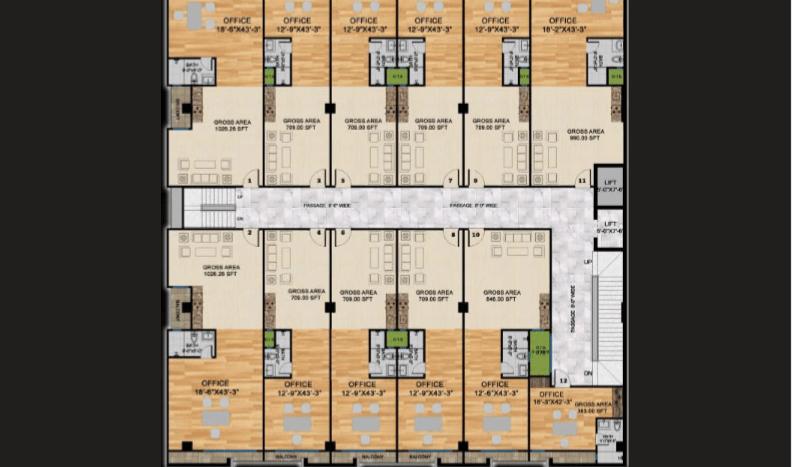 Gulberg Oasis , Second floor plan