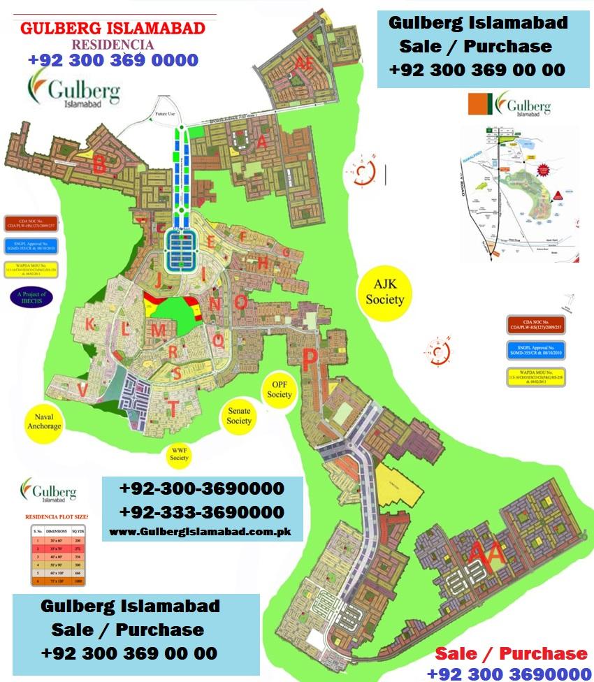 Gulberg Residencia Master Plan
