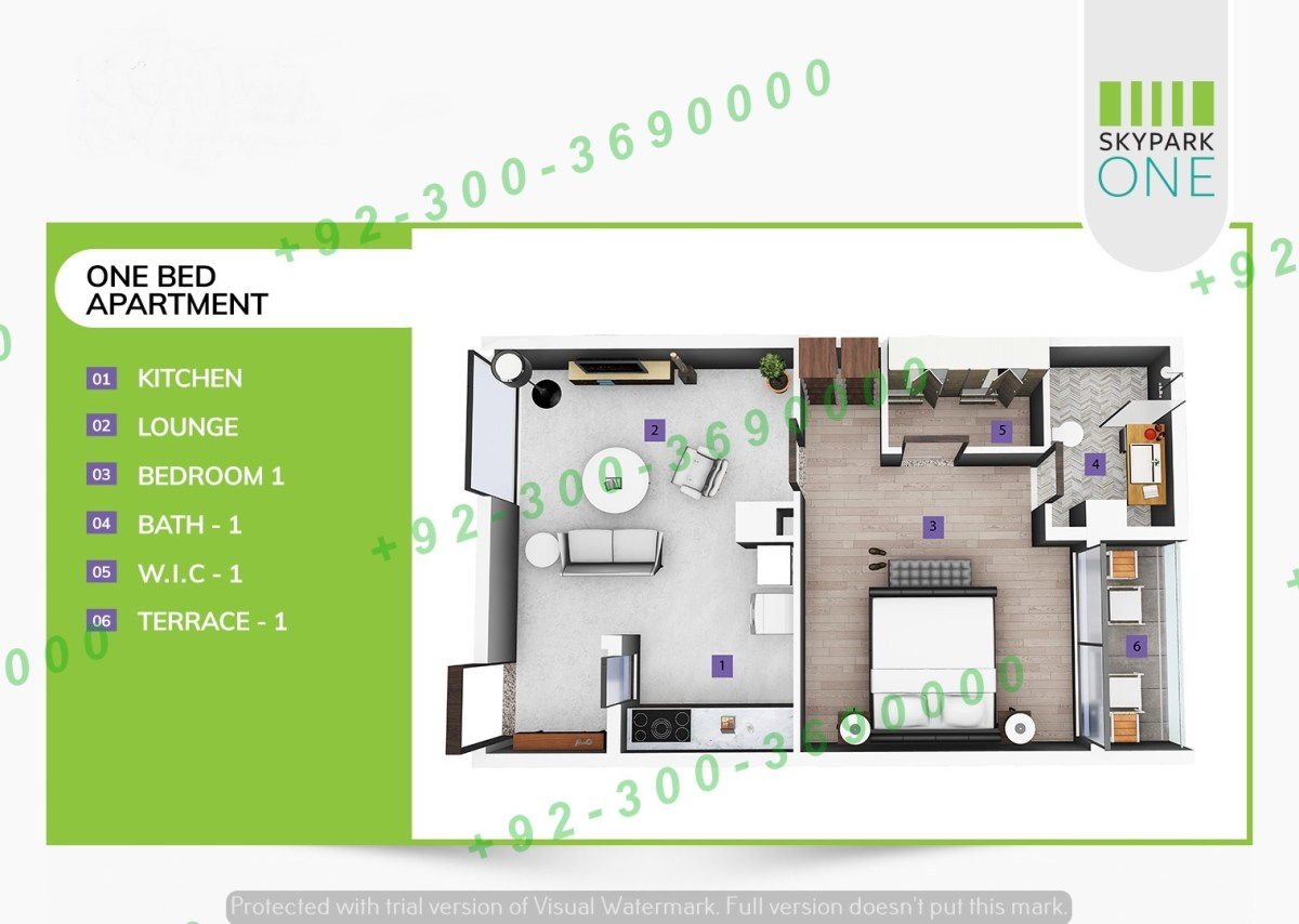 sky park one bedroom apartment