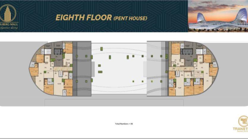 Gulberg Mall Eighth Floor Plan