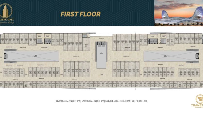 Gulberg Mall First Floor Floor Plan