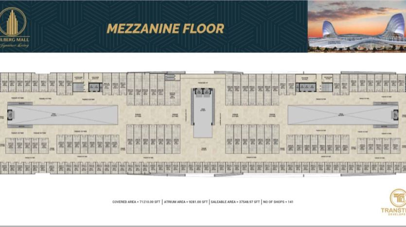 Gulberg Mall Mezzanine Floor Plan