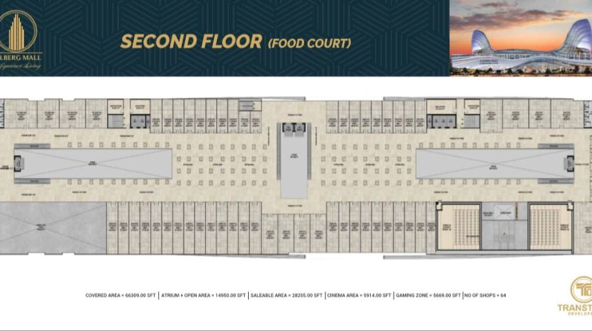 Gulberg Mall Second Floor Plan