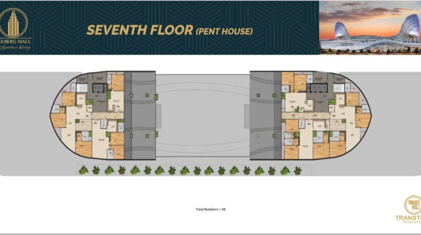 seventh floor pent house floor plan