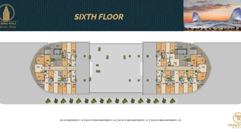 Gulberg Mall Sixth Floor Plan