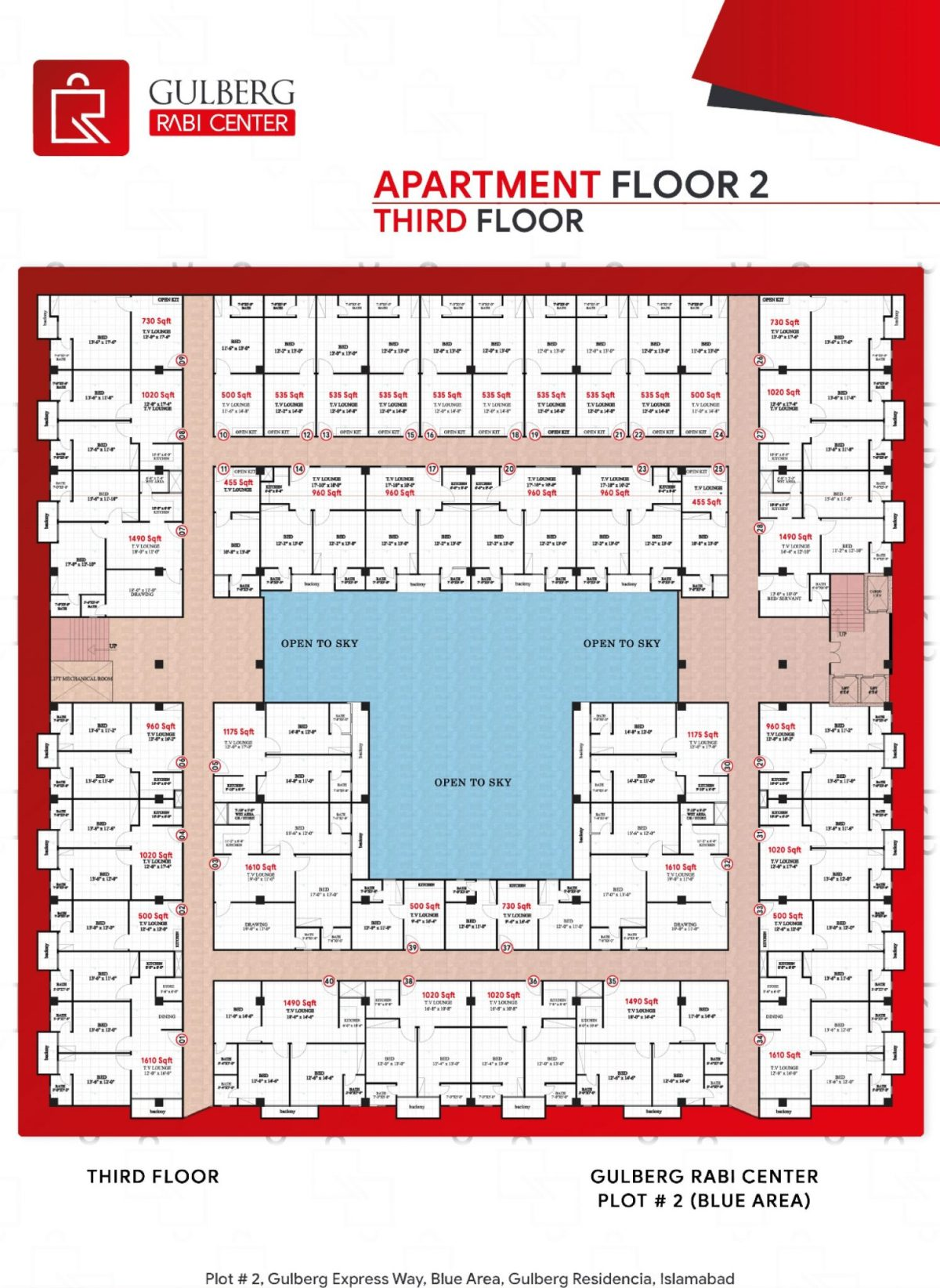 Floor Plan Apartment Floor 2 - (Third Floor)