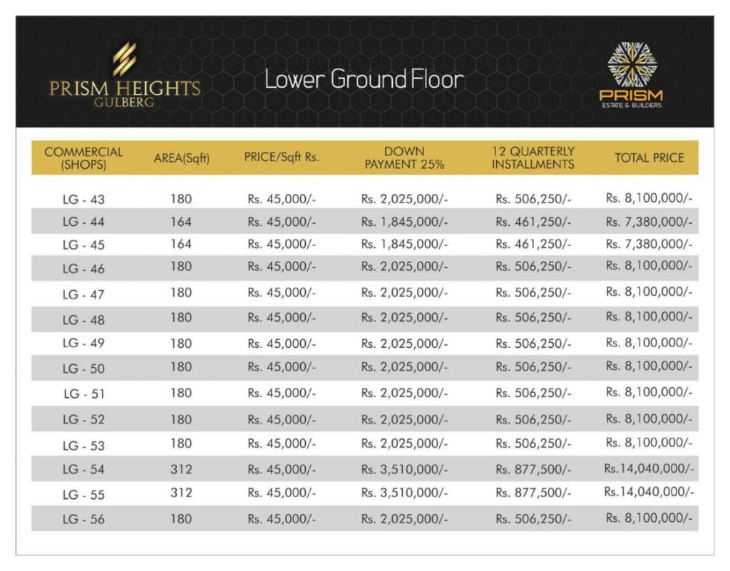 Prism heights gulberg lower ground floor plan 04