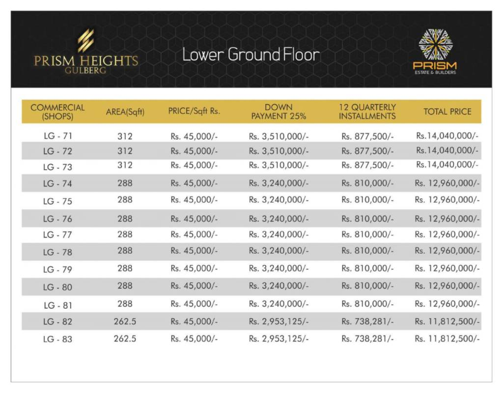 Prism heights gulberg lower ground floor plan 05