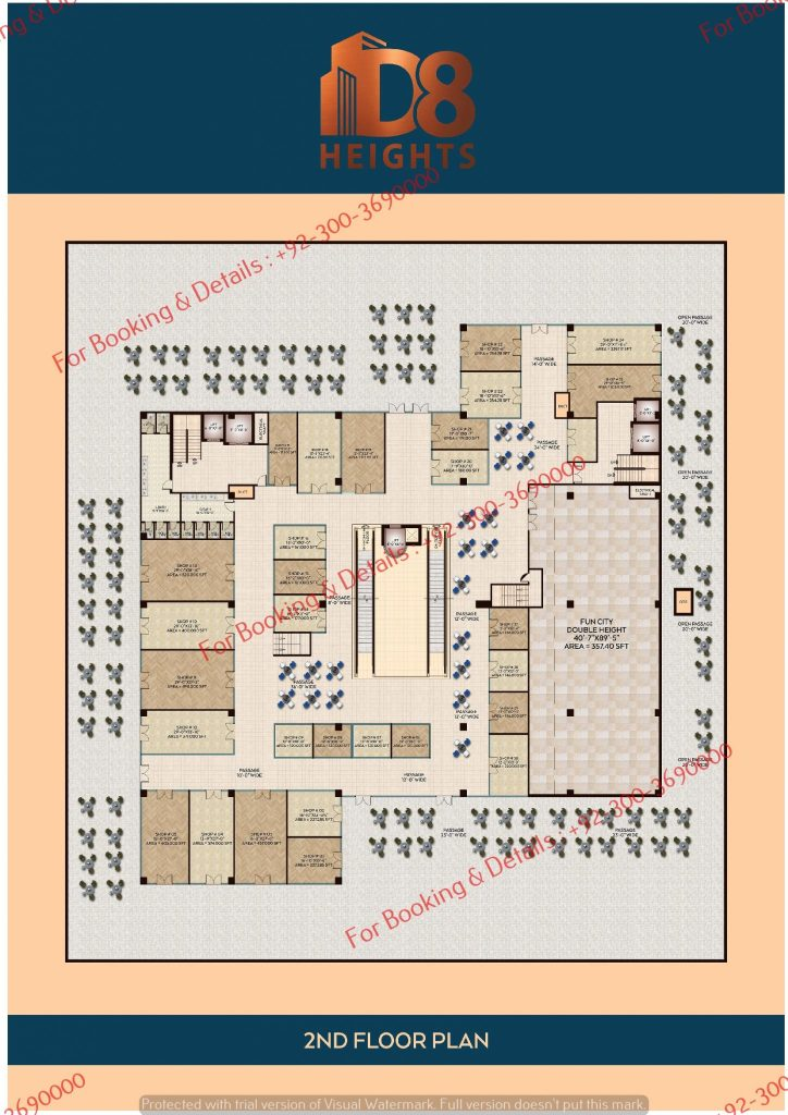 D 8 Heights Gulberg second floor plan
