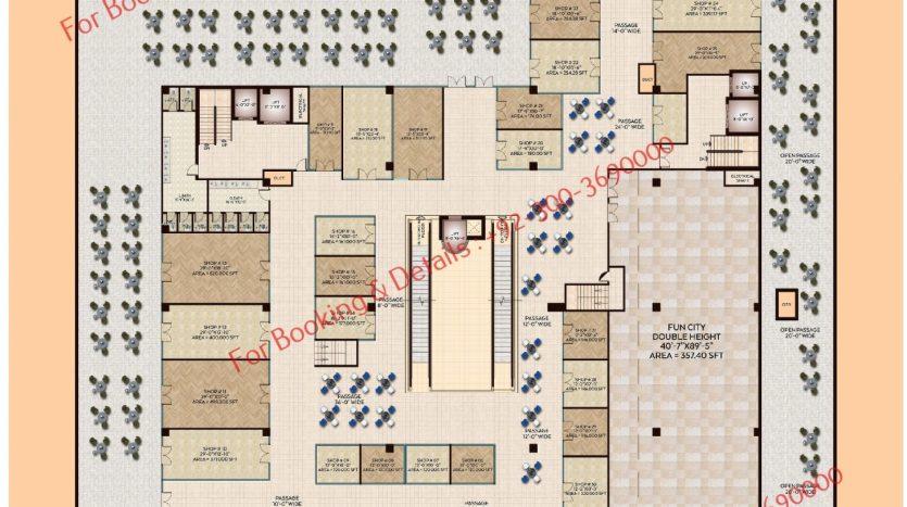 D 8 Heights Gulberg second floor plan