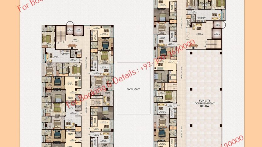 D 8 heights Gulberg 3rd floor plan