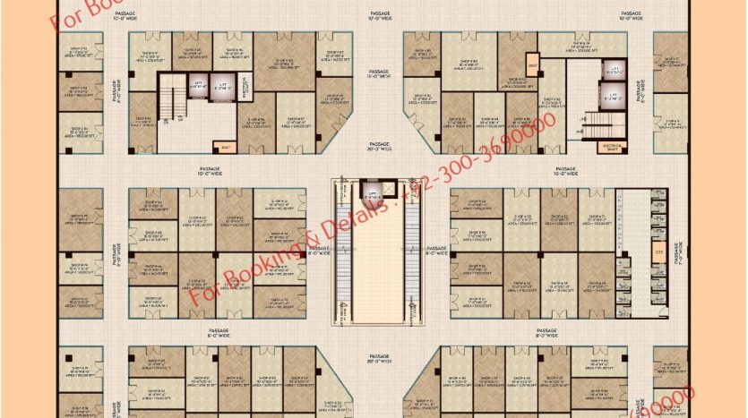 D 8 Heights Gulberg First Floor Plan