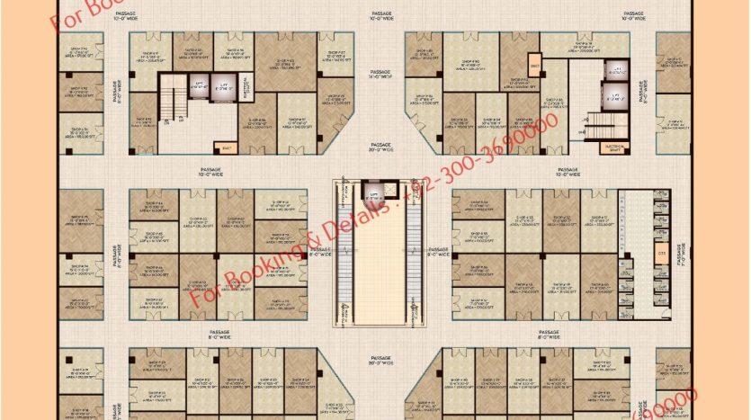 D 8 Heights Gulberg First Floor Plan