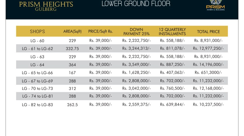 Prism heights gulberg lower ground floor plan 02