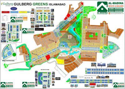 Gulberg Greens Map