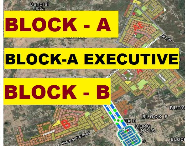 Gulberg residencia Block A,A-Executive,B Map