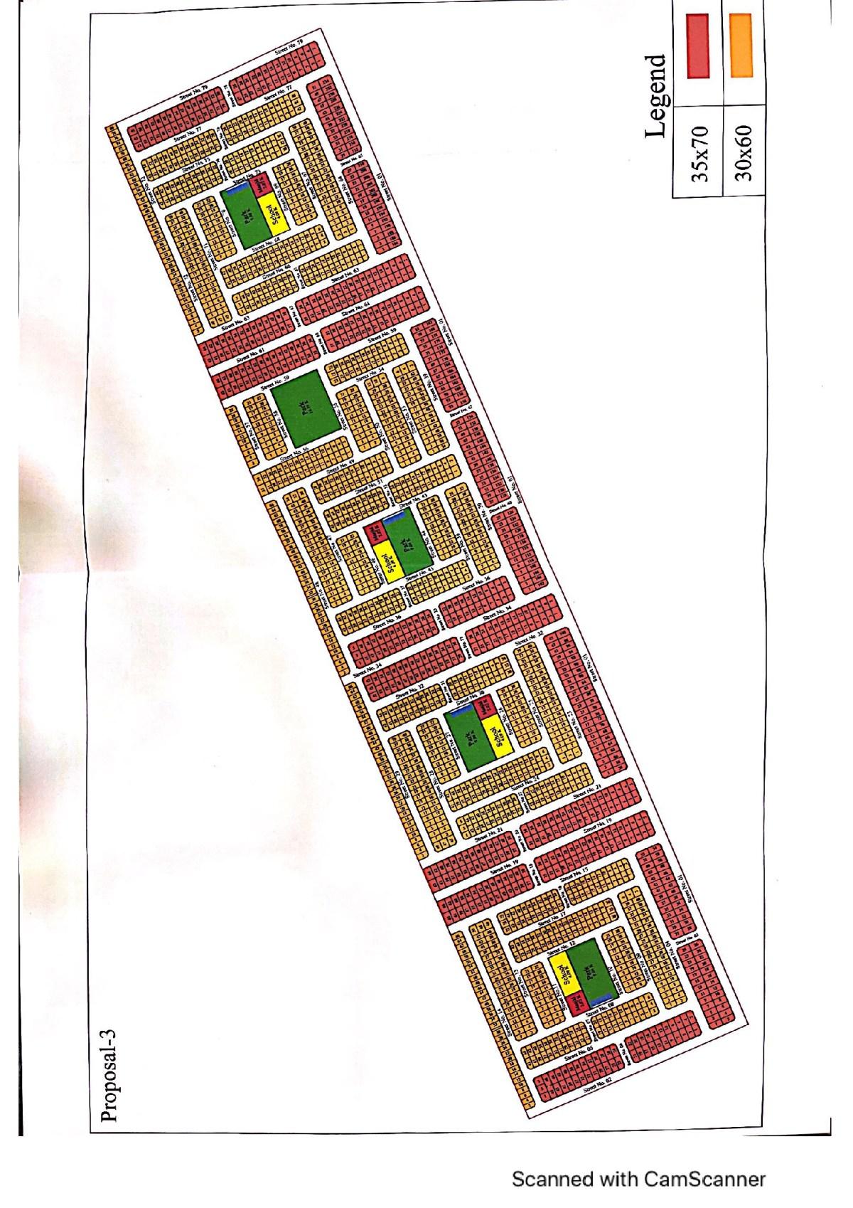 Gulberg Residencia Islamabad F Executive Map