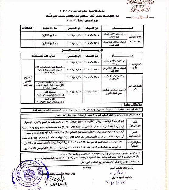 موعد اجازة آخر العام للمدارس والجامعات في مصر للعام الدراسى