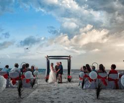 couple de mariage de plage