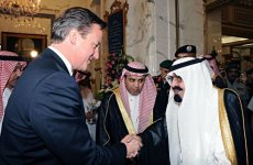 British PM Cameron Meets KSA's King Abdullah